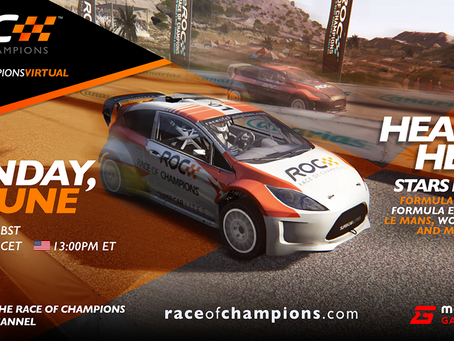 The grid is set for the inaugural Virtual Race Of Champions
