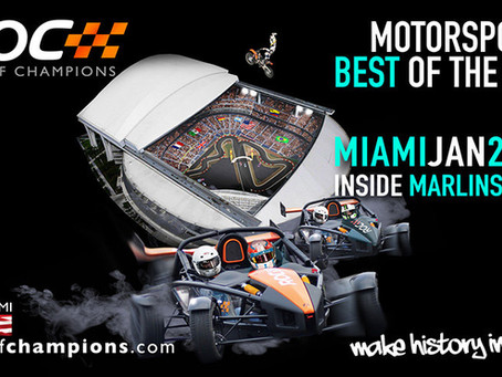 Miami becomes first American city to host Race Of Champions.