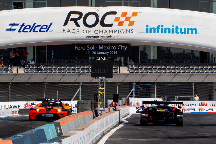 James Baldwin (GBR) and Brendon Leigh (GBR) driving the KTM X-Bow Comp R during the eROC W