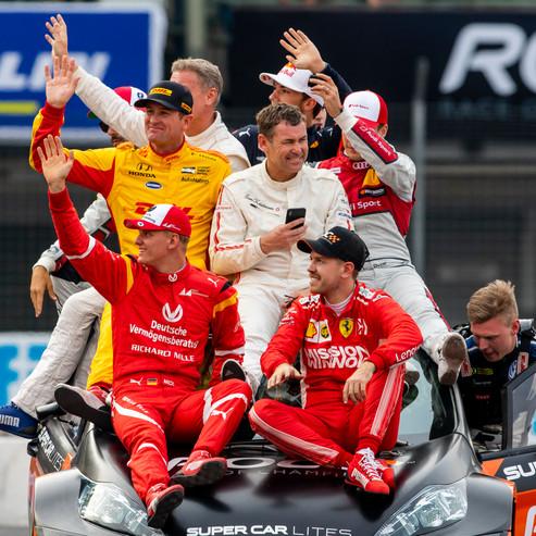 The World team celebrate after winning d