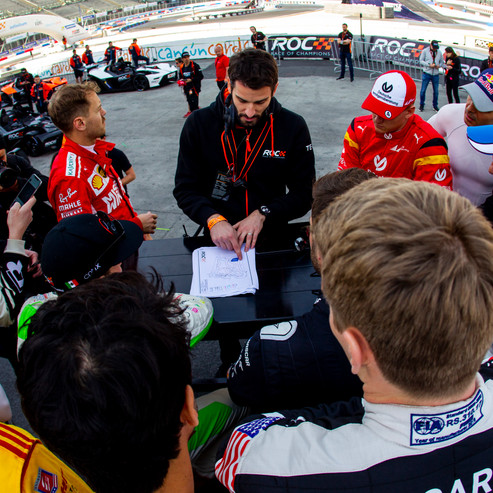 The drivers briefing during the ROC Nati