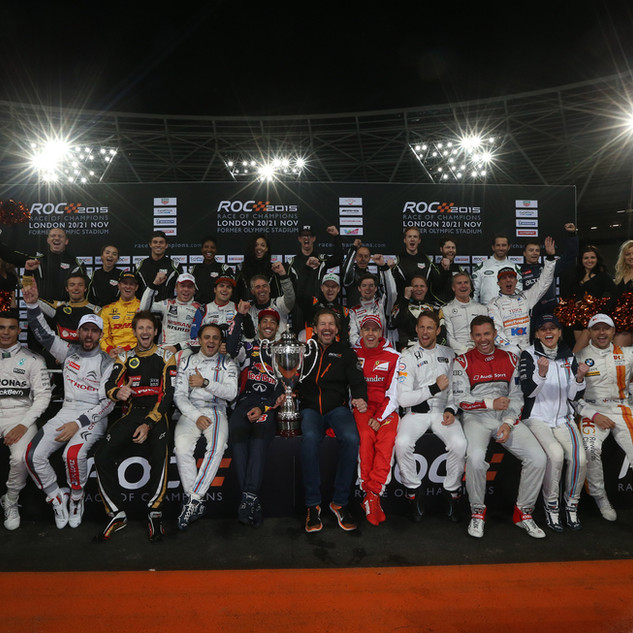 ROC London Olympic Stadium 2015_Drivers Family Photo with Celebrities