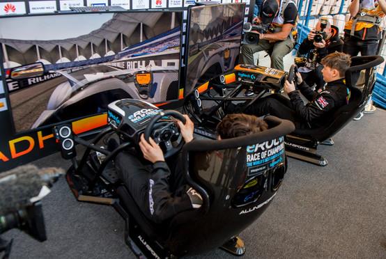 Enzo Bonito (ITA) races Brendon Leigh (GBR) on the simulator during eROC on Friday 2 Febru