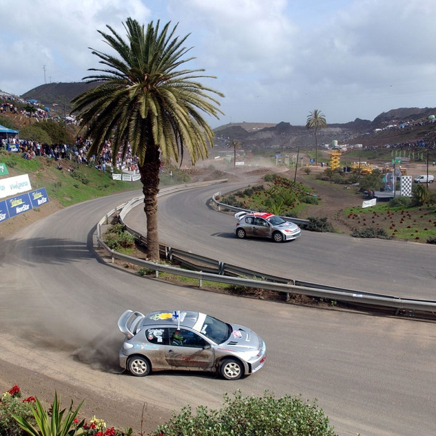 ROC Canary Islands 2002_Race Of Champions_Grönholm and Loeb in the final in Seat