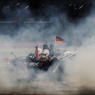 "ROC London 2015_Race Of Champions_Vettel celebrates win for ""Champion of Champions"""