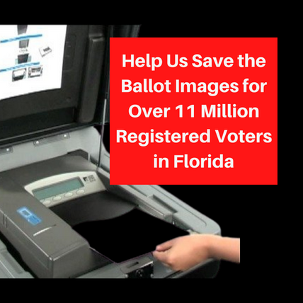 Help Save the Ballot Images for Over 11 Million Floridians