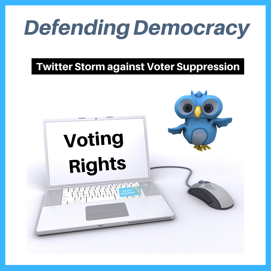 Twitter Storm to advocate for Florida Voting Rights