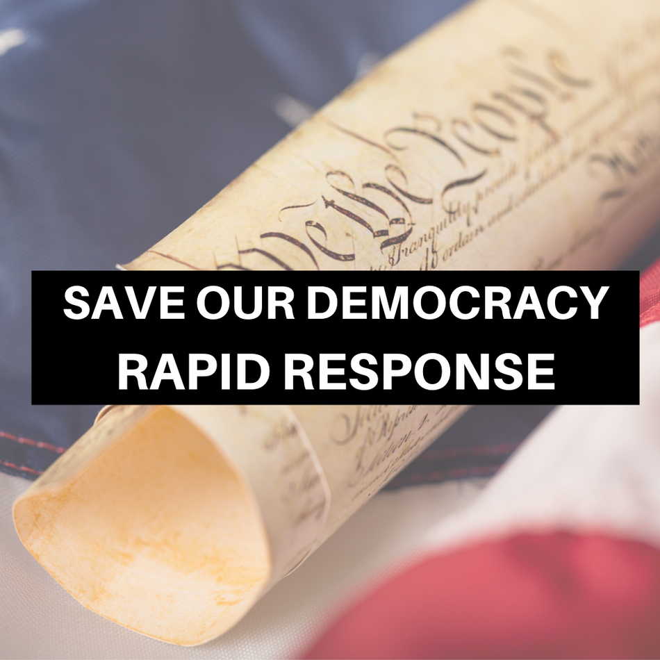 Join the Save Our Democracy Rapid Response Team