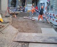 Baustelle mit Arbeitern