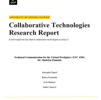 Collaborative Technologies Research Report