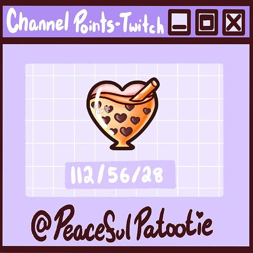 Twitch Channel Points - Boba Bubble Tea Heart