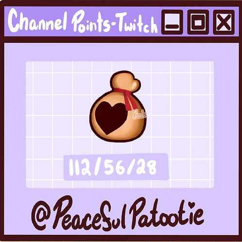 Twitch Channel Points - Animal Crossing Heart Bell Bag