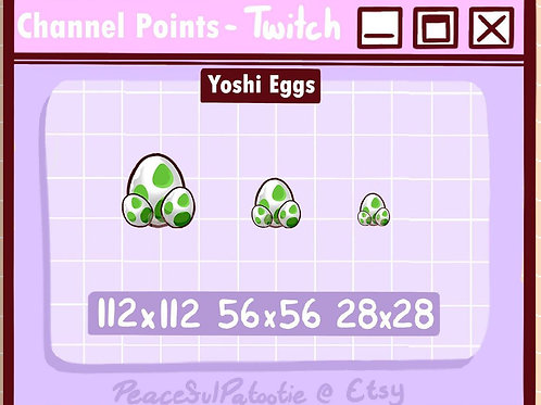 Twitch Channel Points- Yoshi Eggs