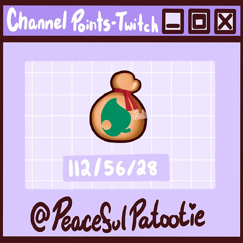 Twitch Channel Points - Animal Crossing Leaf Bell Bag