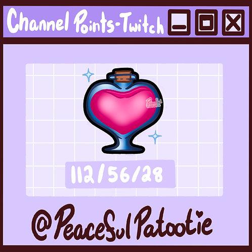 Twitch Channel Points - Love Potion Bottle
