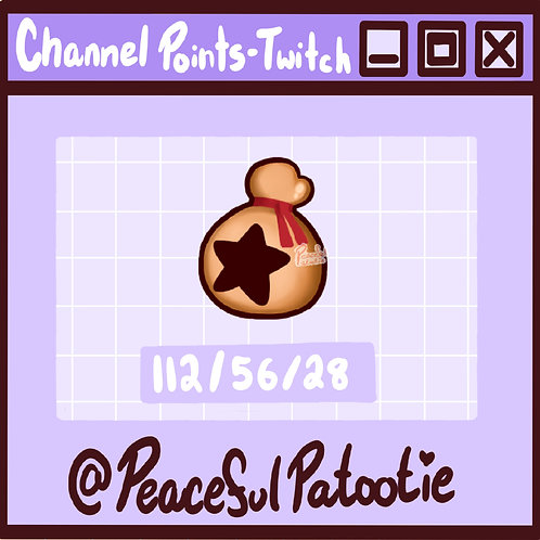 Twitch Channel Points - Animal Crossing Star Bell Bag