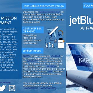 JetBlue Brochure (Front)