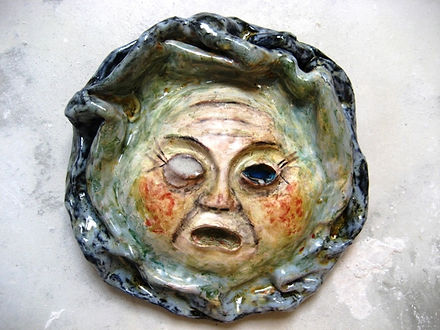 La Gorgone,  22x22x4 cm
