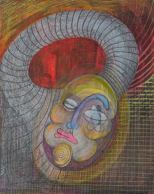Portrait de la danseuse, 27x21 cm, techn