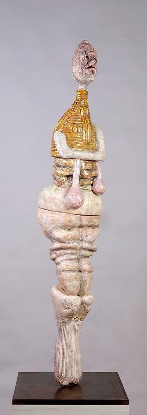 Gilet Jaune et sans culotte, 130x35x35 cm