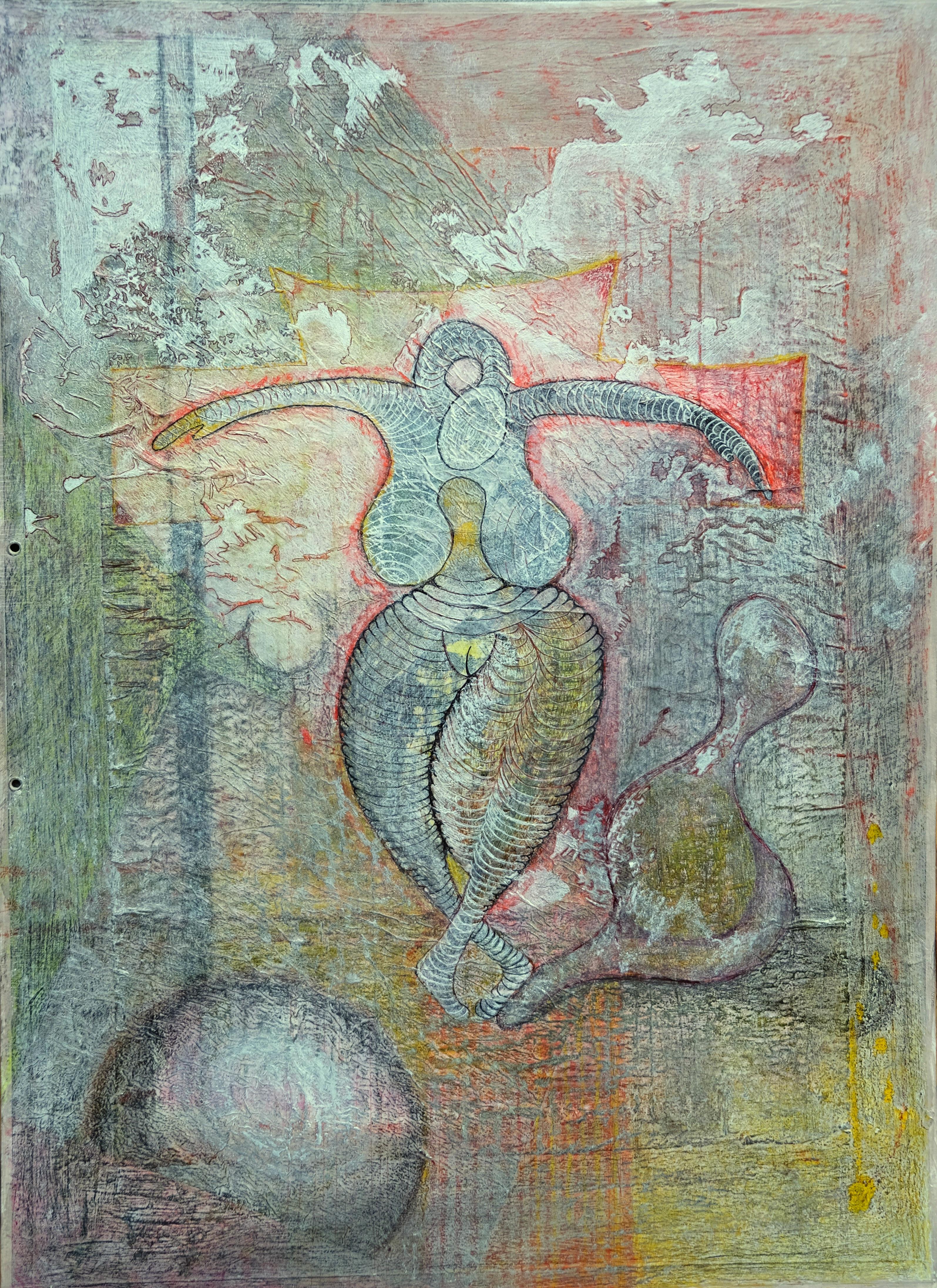 L'ombre de la danseuse, 64x40 cm, tecniq
