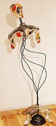 Cintre I, 155x56x40 cm, Céramique émaill