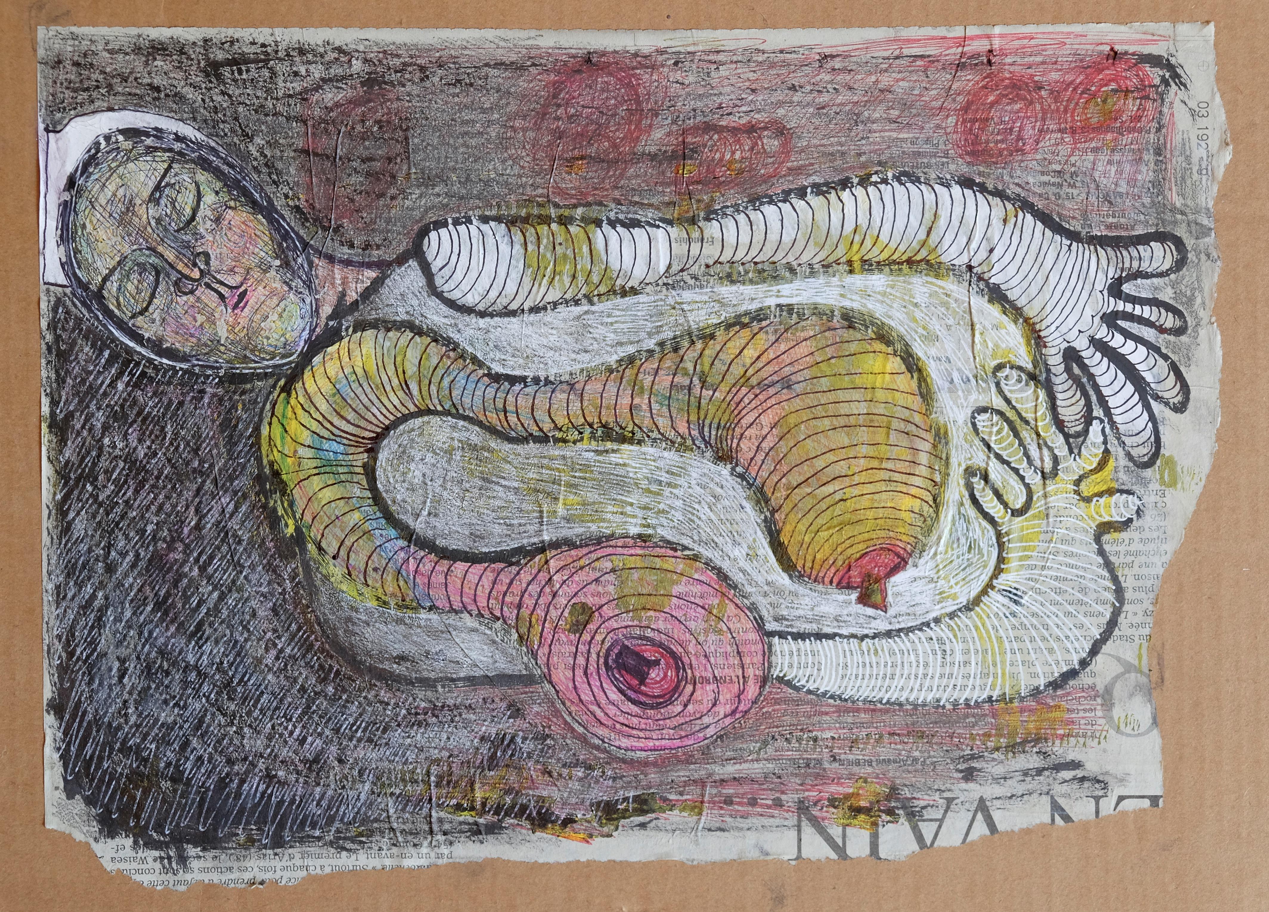 Endormie, 33x24 cm