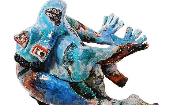 Autoportrait bleu, 1999, 40x40x30 cm.jpg