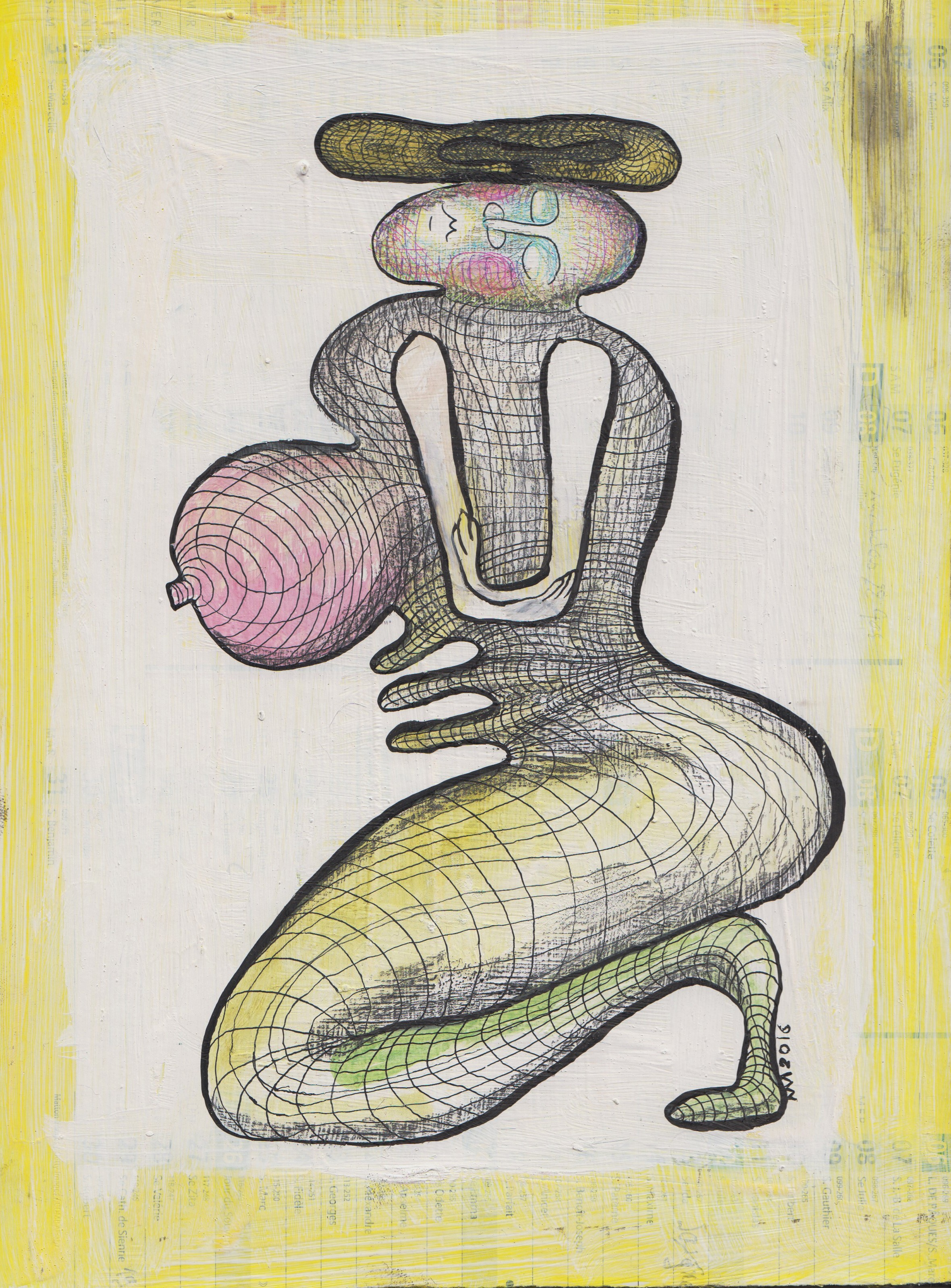 Femme agenouillée, 30x20 cm