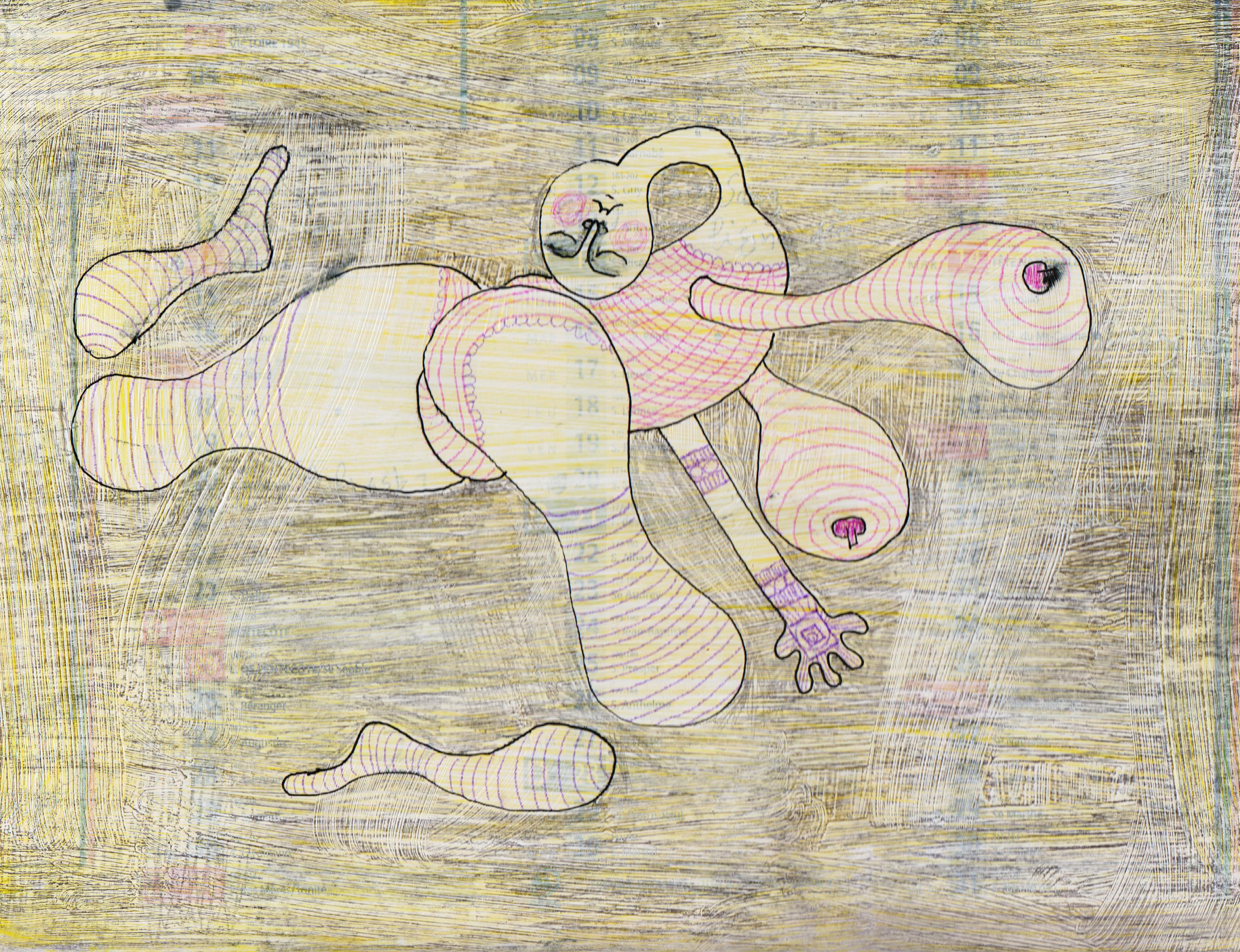 Femme pressée, 25x17 cm