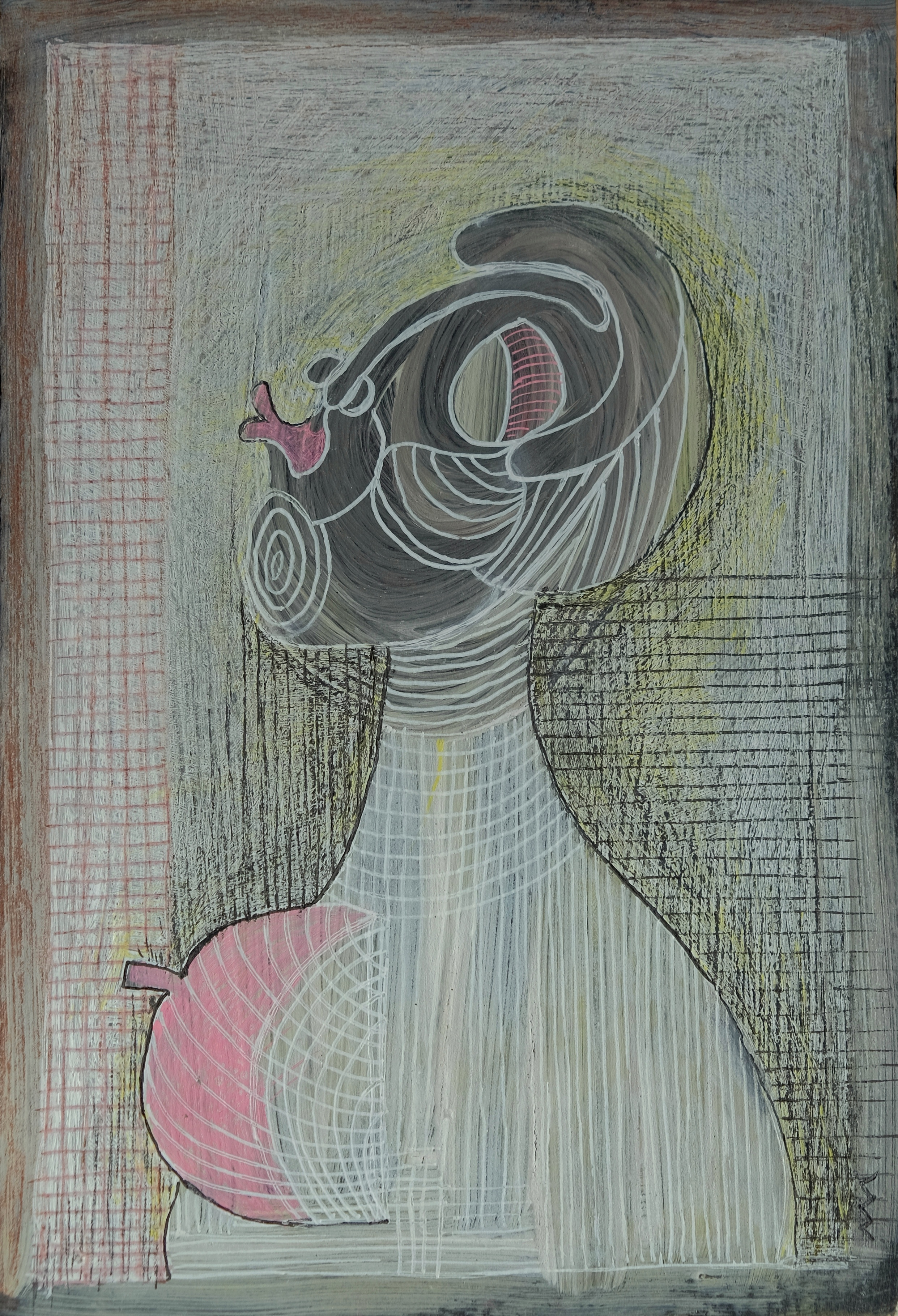 Un bisou, 21x14 cm, Technique mixte, 202