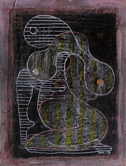 L'étendue des possibles, gouache, stylo bille et crayons de couleurs, 18x13 cm