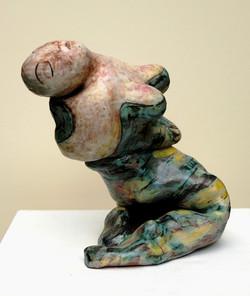 La femme en vert, 26x26x20 cm