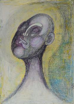 Etude des volumes du visage, 27x18x cm,