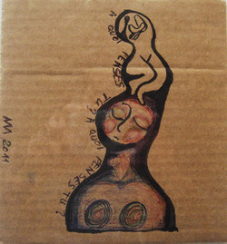 Rêverie,17x15 cm