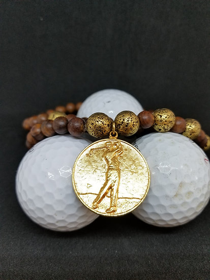 "Golfer's ""Hole In One"" Wood Necklace"