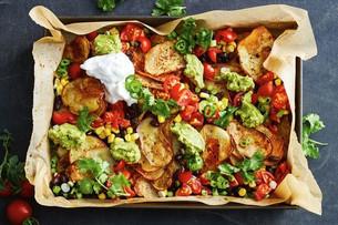 Healthier Potato Nachos