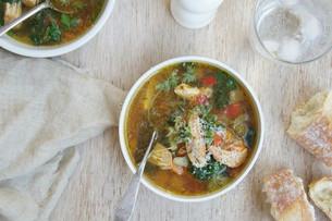 Slow Cooker Chicken & Winter Vegetable Soup