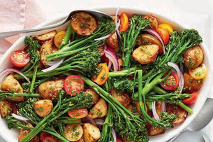 Dukkah Potato and Broccolini Salad