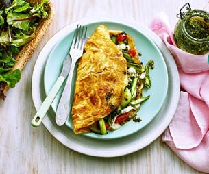 Spring Vegie Omelettes