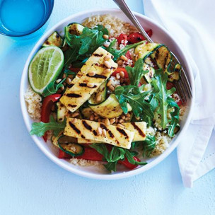 Barbecued Haloumi & Vegetable Salad