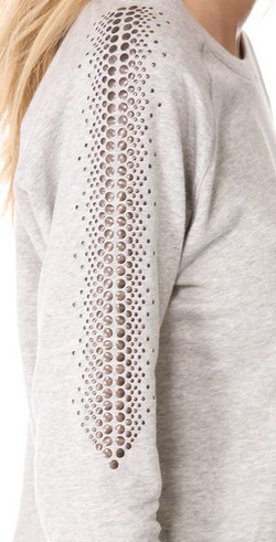 studded shoulder/arm detail