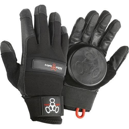 Luva para downhill,que cobre todos os dedos e mão e um casquilho na parte redonda na palma da mão.