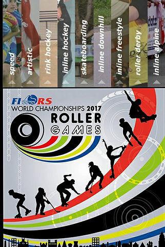 Imagem do Roller Games 2017 demonstrando todas as modalidades participantes do evento