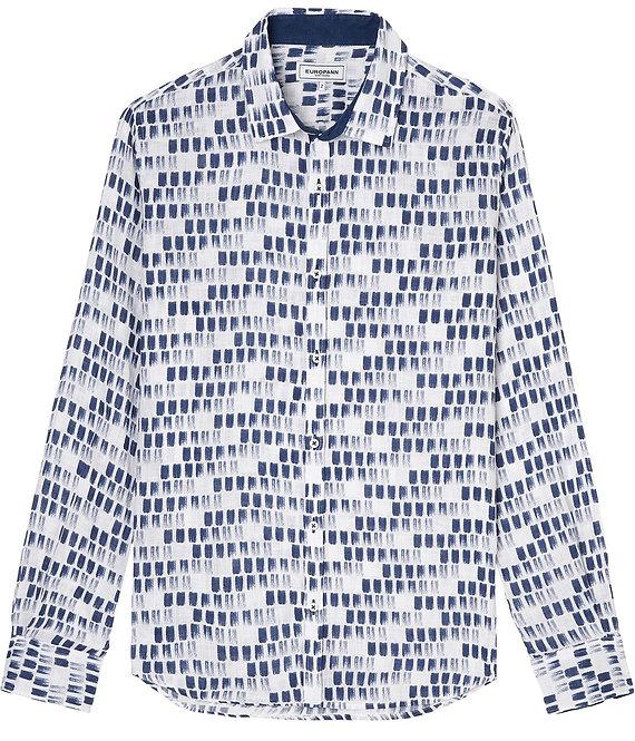 Europann stroke blue linen shirt