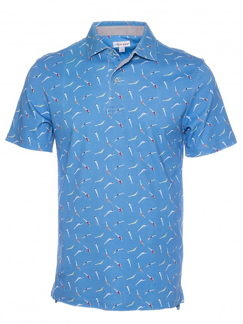 French Polo - swimmer print