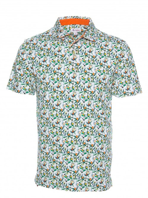 French Polo- Mirabelle print