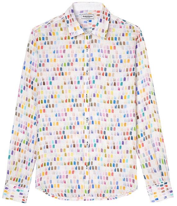 Europann stroke multi linen shirt