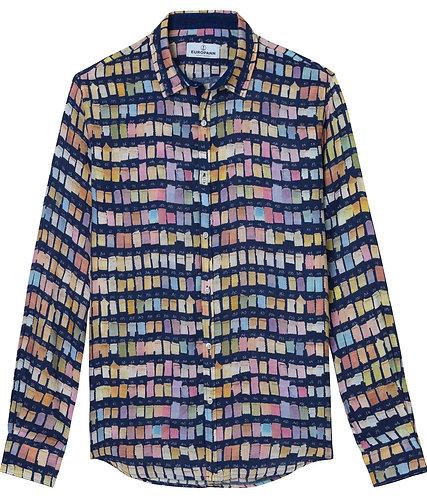 "Europann Pantone colour swatches Shirt  Marine seen ""Grace and Frankie"""