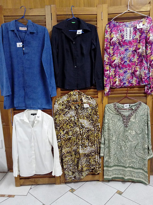 Camisas diversas cores